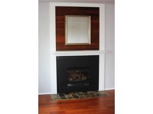 Beautiful Arts & Crafts Style gas fireplace.