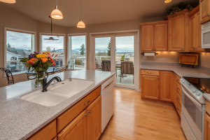 Beautiful kitchen designed for indoor & outdoor entertaining with amazing views.