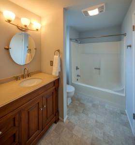 Full bath on upper floor.
